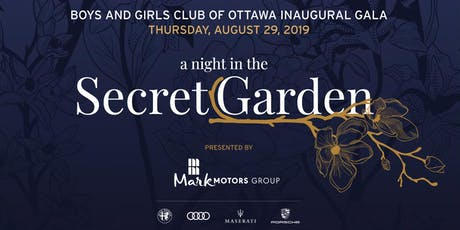 "BGCO Gala: ""a night in the Secret Garden"" tickets"