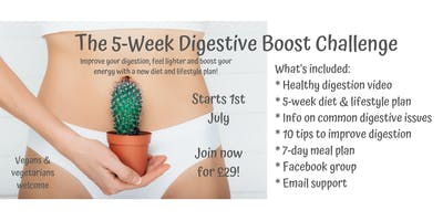 5-Week Digestive Boost Challenge with a Registered Nutritionist