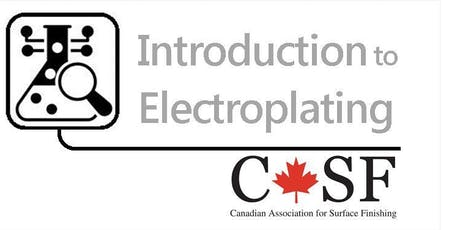 CASF Introduction to Electroplating Course tickets