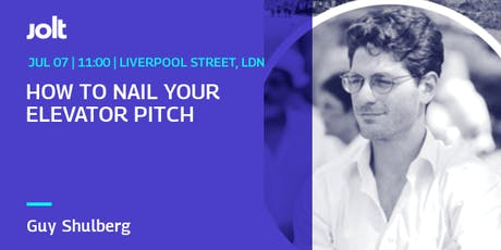 Workshop: How To Nail Your Elevator Pitch tickets