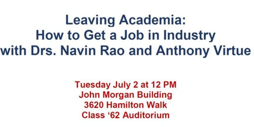 Leaving Academia:  How to Get a Job in Industry
