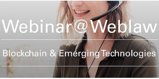 Webinar Blockchain & Emerging Technologies–Steuerrecht und Token Economies