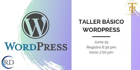 Taller Básico Wordpress tickets