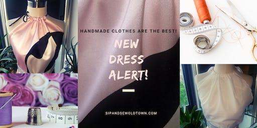 Sip And Sew Pop UP: Halter Dress