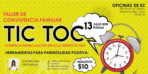 Taller de Convivencia Familiar Tic Toc