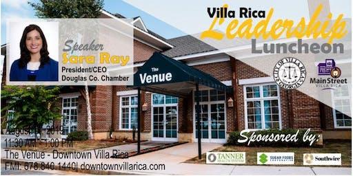 Villa Rica Leadership Luncheon Series | August 14, 2019