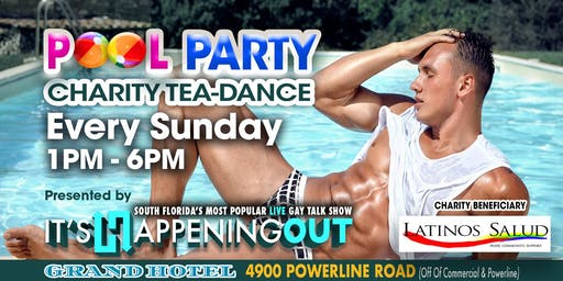 Weekly Charity Pool Party Benefiting Latinos Salud!