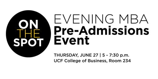 Evening MBA On-the-Spot Pre-Admissions Event