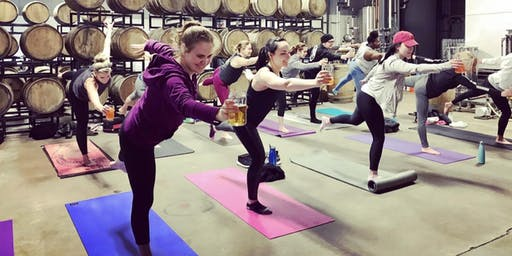 Beer Yoga at Barrel House Z