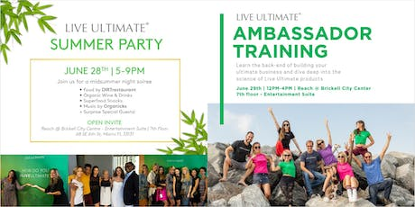 LIVE ULTIMATE SUMMER PARTY & TRAINING tickets