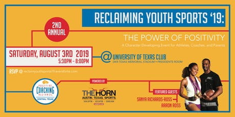 Reclaiming Youth Sports 2019 tickets
