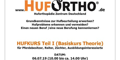 Hufkurs Teil I: Basiskurs Theorie Tickets