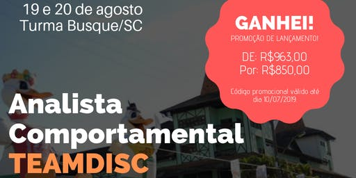 Formação Analista Comportamental TEAMDISC Profiler - Brusque/SC
