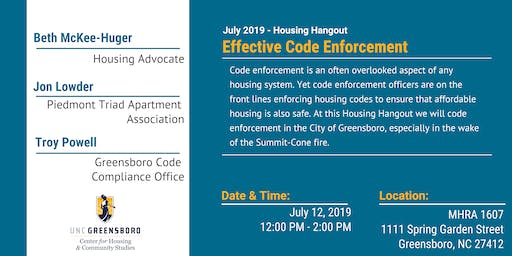 Effective Code Enforcement - July Housing Hangout