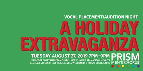 PRISM Fall 2019 Vocal Placement Night tickets