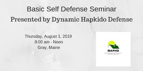 Basic Self Defense Seminar tickets