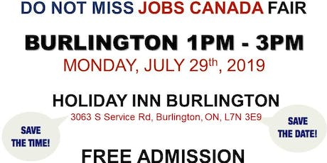 FREE: Burlington Job Fair – July 29th, 2019 tickets