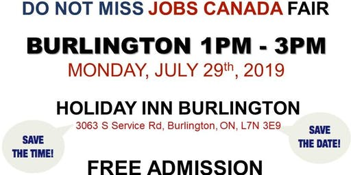FREE: Burlington Job Fair – July 29th, 2019