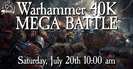 Warhammer 40K Mega Battle tickets