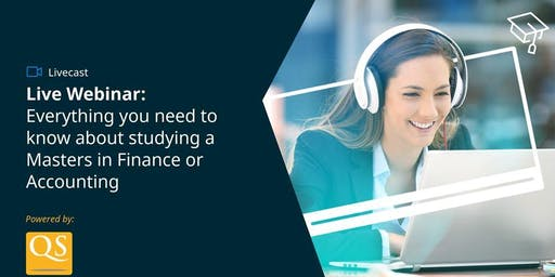 Apply 2020 Global Livecast: Advance your Career with a Masters in Finance or Accounting