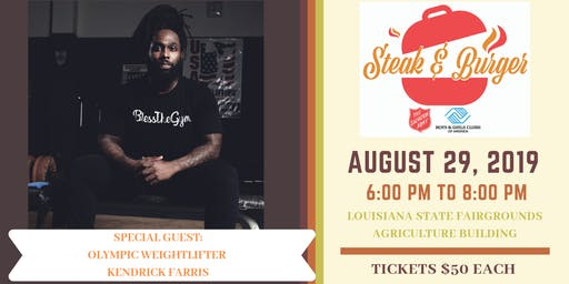 2019 Steak & Burger Dinner with Olympic Weightlifter Kendrick Farris