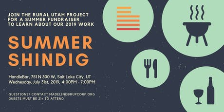 Rural Utah Project Summer Shindig tickets