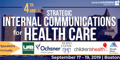 4th Annual Strategic Internal Communications for Health Care
