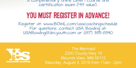 FREE USA Bowling Coach Certification Seminar - The Mermaid, Mounds View, MN tickets