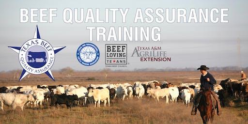 Beef Quality Assurance Training - Mineola
