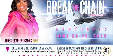 Break The Chains Encounter tickets