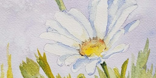 """White Daisies"" Watercolor Class"
