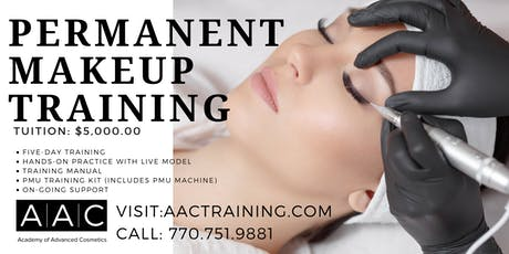 PERMANENT MAKEUP CERTIFICATION TRAINING tickets