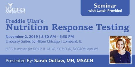 Nutrition Response Testing (Chicagoland) tickets
