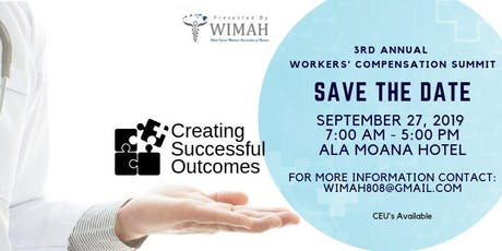 WIMAH Workers' Comp Summit - Creating Successful Outcomes tickets