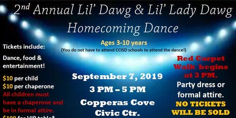 2nd Annual Lil' Dawg & Lil' Lady Dawg Homecoming Dance tickets