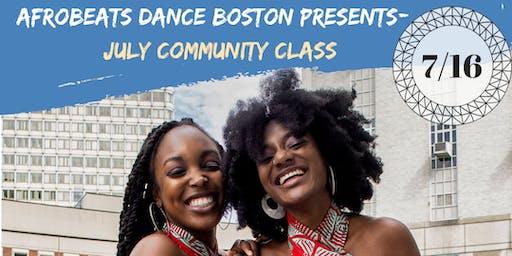 July Community Class: 7/16/19