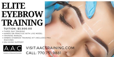 ELITE EYEBROW CERTIFICATION TRAINING tickets