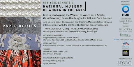 New York Committee's NMWA Women to Watch Artists Panel tickets