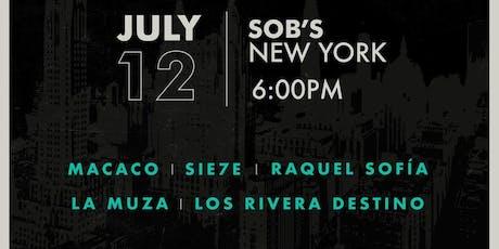 La Buena Fortuna Presents: Macaco, Sie7e, Raquel Sofia, La Muza & Los Rivera Destino tickets