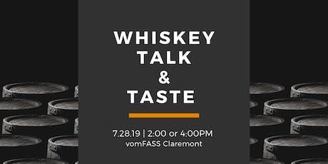 Whiskey Talk & Taste tickets