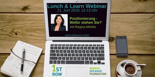 """Live-Webinar """"Positionierung: Wofür stehen Sie?"""" mit Regina Mehler"""