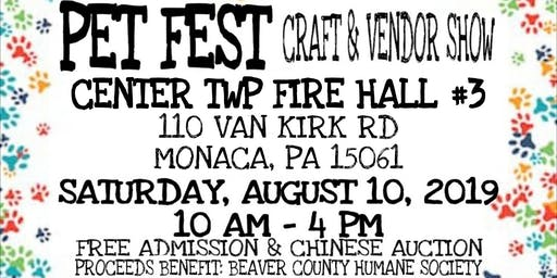 PET FEST - VENDOR & CRAFT SHOW