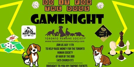 Do It For The Dogs! Game Night tickets