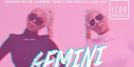 Icon Fridays Presents: Gemini SZN tickets