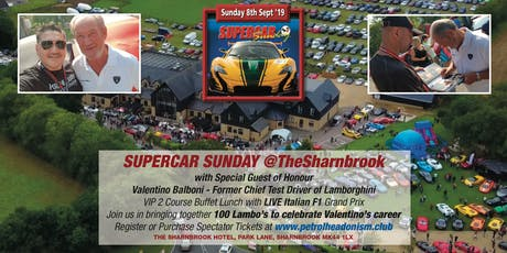 SUPERCAR SUNDAY @THESHARNBROOK 08/09/19 tickets