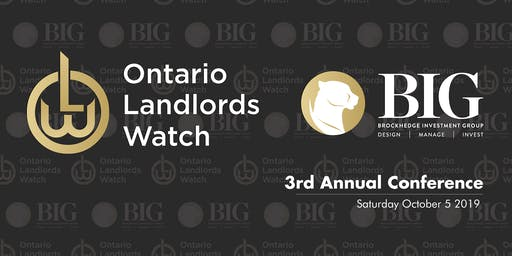 2019 ONTARIO LANDLORDS WATCH CONFERENCE