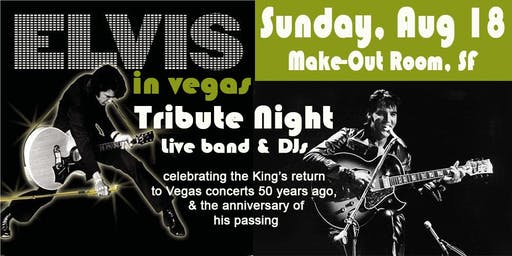 "Elvis in Vegas Tribute 2019 ""The King"" premium ticket"