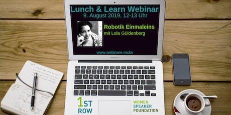 "Live-Webinar ""Robotik Einmaleins"" mit Lola Güldenberg tickets"