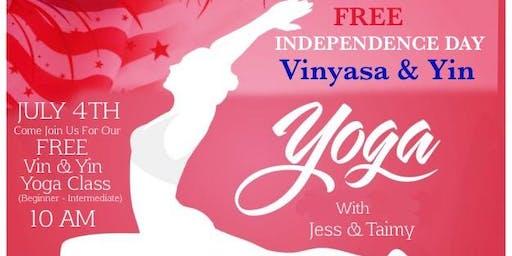 July 4TH (FREE) Vinyasa & Yin Yoga!!  w/ Jess & Taimy @ Tropical Park