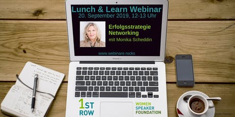 """Live-Webinar """"Erfolgsstrategie Networking"""" mit Monika Scheddin Tickets"""